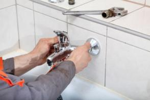 Ralph, one of our Gunbarrel plumbing pros, is installing a new faucet