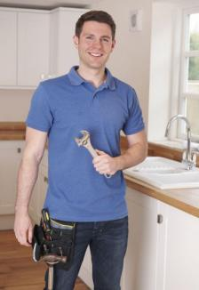 Jim has just finished fixing a kitchen fixture in Gunbarrel